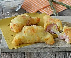 CORNETTI DI RISO con prosciutto e formaggio ricetta veloce