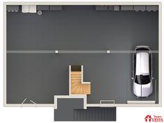 Maisons VESTA :  plan du sous-sol du modèle Havana.  90m² + 98 m² surface annexe. Type F5.
