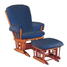 Navy and wood glider
