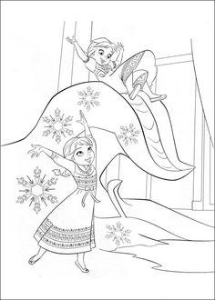 Desenhos para colorir para crianças. Desenhos para imprimir e colorir Frozen 7