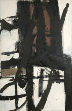 Franz Kline (American, 1910-1962), The Bridge, c. 1955. Oil on canvas, 208.3 x 138.4 cm.