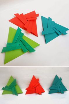 origami - sobres triangulares plegados en papel