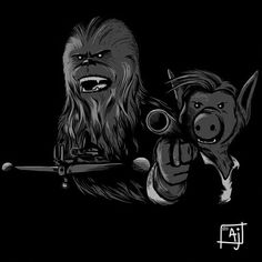 Alf and Chewbacca