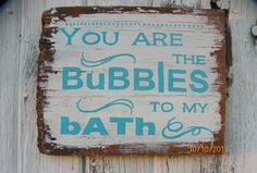 Barn Board Bathroom Sign by FoxDecor on Etsy