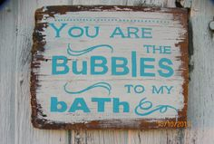 Barn Board Bathroom Sign by FoxDecor on Etsy