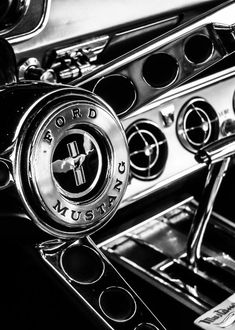 Classic Mustang Interior Photograph by Jon Woodhams - Classic Mustang Interior Fine Art Prints and Posters for Sale - Auto 2019 Shelby Mustang Gt500, Mustang Cobra, Mustang Girl, Classic Mustang, Ford Classic Cars, Classic Muscle Cars, Muscle Cars Vintage, Vintage Cars, Ford Mustangs