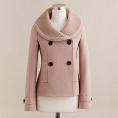 taupe pea coat