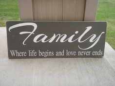 Wooden Family Signs gray and white family signs by DesignsOnSigns3
