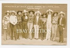 1900's ROUNDUP COWGIRLS ST LOUIS MISSOURI MO MILK FUND RODEO REAL PHOTO RPPC | Collectibles, Postcards, Real Photo | eBay!