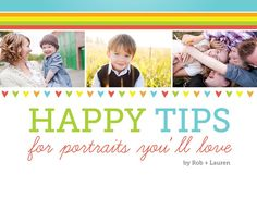 prepare clients with these tips - pdf from Photography Concentrate