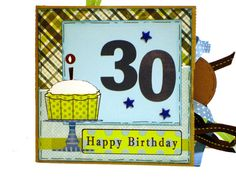 30th Birthday Premade Scrapbook - Paper Bag Album - Birthday. $28.00, via Etsy.