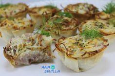 Cosa más fácil y rica, para un picoteo. Un tuneo de mis  Pechupizzas , Cestitas sabor pizza cocina tradicional.