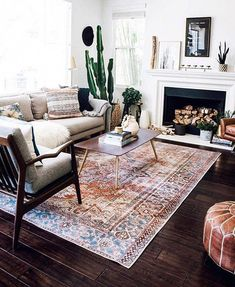 The Best Living Room Rugs Inspiration! - Best Rugs - Ideas of Best Rugs - The Best Living Room Rugs Inspiration! Living Room With Fireplace, Rugs In Living Room, Living Room Furniture, Living Room Designs, Home Furniture, Living Room Decor, Modern Furniture, Dark Floor Living Room, Beige Sofa Living Room