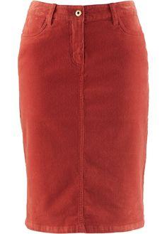 £: 2016/17  Gonna di velluto Rosso mattone - bpc bonprix collection è ordinabile nello shop on-line di bonprix.it da ? 14,99. Classica gonna a matita in velluto che ...