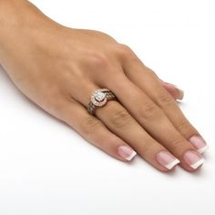 2.53 TCW Round Cubic Zirconia and Chocolate Cubic Zirconia Ring in Rose Gold over Sterling Silver at Viomart.com