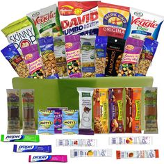 Healthier You Snack Boxes with 32 Snacks and Treats for NUT LOVERS