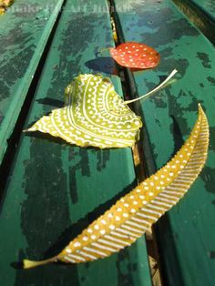 nature: art: leaves: painting