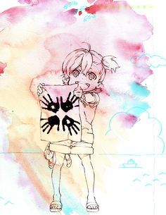 <3 | via Tumblr anime, barakamon, kotoishi naru, naru, official art
