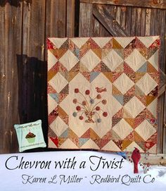 Karen's Quilts, Crows and Cardinals: Chevron with a Twist Celebration!