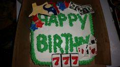 Texas/casino themed birthday cake