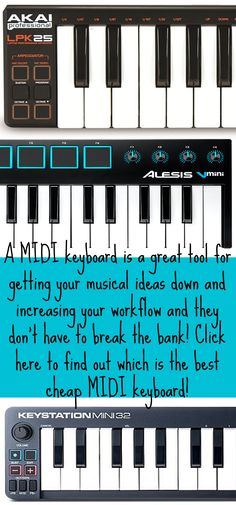 A MIDI keyboard is a great way to get your musical ideas down and increase your workflow. Click HERE to find out which is the best cheap MIDI keyboard Techno, Midi Keyboard, Music Production, Sound Design, Good And Cheap, Design Tutorials, Edm, You Got This, How To Find Out