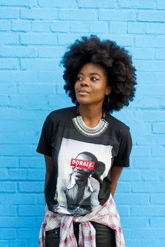Afro style: Diffuser Prep: Brilliant Damage Control Style: Universal styling creme Finish: Brilliant Spray on Shine