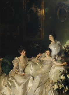 The Wyndham Sisters by John Singer Sargeant 1899 Mrs Madeline Adeane, Lady Pamela Glenconner (Stephen Tennant's mother) and Lady Mary Elcho