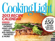 Bu Cooking Light 2013 Boxed Calendar online at Megacalendars The Cooking Light 2013 Day to Day Calendar features three recipes per week with a full color image accompanying each weekend recipe