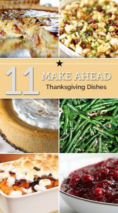 11 Make-Ahead Thanksgiving Dishes | thegoodstuff
