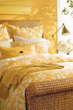 This is monochromatic because the designer chose all yellow hues to put into this room. This gives the room a feeling of warm.