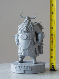zaphire-delclarence:  3D Print of Stoick the Vast from How To Train Your Dragon 2 Late last year the modeling team here at DreamWorks Animat...