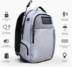 Lifepack: Solar Powered Backpack with Anti-theft Feature