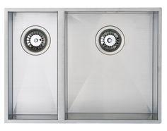 Zirco Bowl Undermount or Inset Sink Left Hand Drainer Stainless Steel Sink Taps, Undermount Sink, Stainless Steel Kitchen, Brushed Stainless Steel, Designer Kitchen Taps, Kitchen Design, Spray Insulation, Solid Wood Kitchen Cabinets