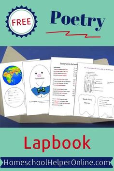 This free Poetry lapbook has many unique templates and activities based on various children's poems - a wonderful inter-disciplinary study! #lapbooking #teachpoetry #homeschoolhelperonline | HomeschoolHelperOnline.com