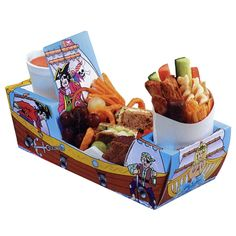 Have individual trays for serving food - bike theme or plain