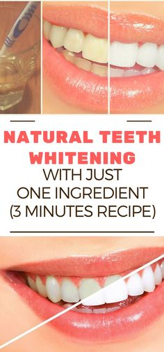 NATURAL TEETH WHITENING WITH JUST ONE INGREDIENT (3 MINUTES RECIPE)!!!