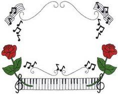 Piano Border embroidery design