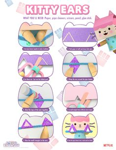 Make the purr-fect craft with these Make Your Own Kitty Ears from Gabby's Dollhouse.