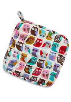 If You Cant Stand the Hoot Pot Holder - Multi, Print with Animals, Owls, Best Seller, Best Seller, Mid-Century, Top Rated