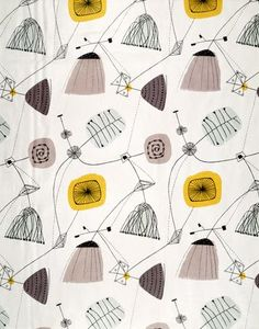Lucienne Day, retro, style, patterm, fabric, design, shape, colour, print, illustration, surface pattern