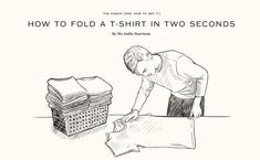 This is no joke: My mind was BLOWN when watching the video. I NEVER thought of folding my shirt like this. Fold a shirt in 2 seconds? Seriously BLOWN!! Click for video.