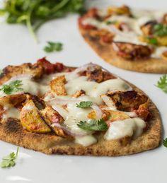 Chicken Tikka Pizza on whole wheat naan.