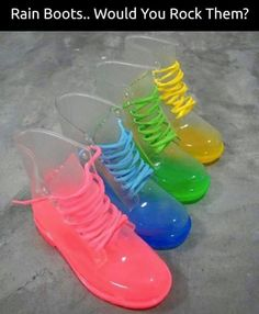 These rain boots are cute!