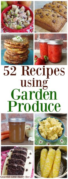 52 Recipes for Using and Preserving Your Garden Produce is part of Cheap Summer recipes - Check out this MEGA list of recipes using garden produce and learn how to turn your homegrown vegetables into dinner that your family will love! Honey Recipes, Real Food Recipes, Healthy Recipes, Delicious Recipes, Cheap Easy Meals, Frugal Meals, Frugal Recipes, Cheap Recipes, Dinner On A Budget