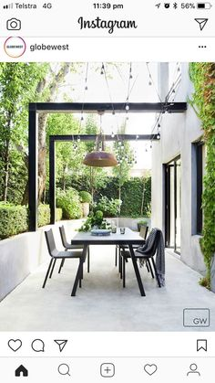 Outdoor gardens Garden Outdoor pergola Courtyard garden Outdoor inspirations Outdoor patio - Decorate the terrace nicely with fairy lights - Outdoor Pergola, Wooden Pergola, Pergola Kits, Outdoor Decor, Pergola Roof, Cheap Pergola, Covered Pergola, Backyard Pergola, Outdoor Patios