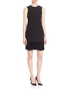Theory Malkan Winslow Crepe Dress - Black - Size