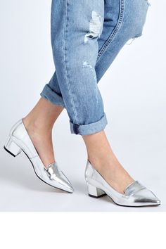 """""""10 Amazing Silver Shoes You'll Wear Forever — Seriously"""" -- Click through for a slide show. Shown: ASOS Social Pointed Heels, available at ASOS.  [I actually might wear these!]"""