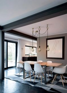 Get inspired by these dining room decor ideas! From dining room furniture ideas, dining room lighting inspirations and the best dining room decor inspirations, you'll find everything here! Home Design, Interior Design, Salon Design, Design Ideas, Design Design, Nordic Interior, Deco Design, Designs, Creative Design