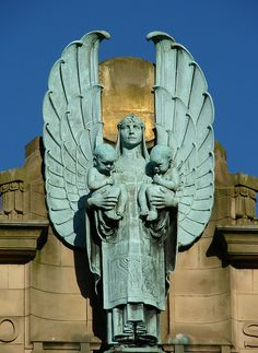 Deco angel on the Russell Institute Paisley