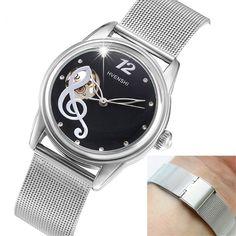 >> Click to Buy << HVENSHI Women Skeleton Automatic Mechanical Watch Swiss Design Women Fashion Casual Steel Watches Klockor relogio feminino #Affiliate